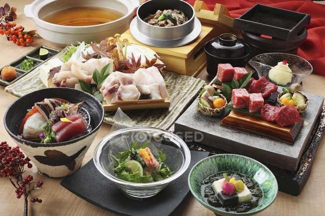 Традиційні страви японської кухні — стокове фото