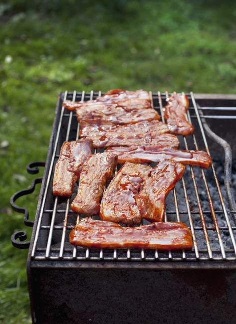 Marinated pork belly — Stock Photo