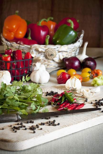 Piments rouges aux tomates — Photo de stock
