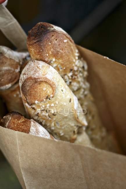 Freshly baked grain Baguettes — Stock Photo