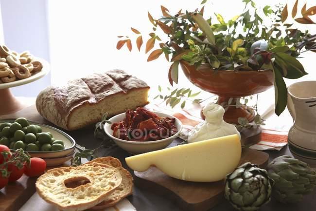 Disposizione di pugliese di formaggio — Foto stock