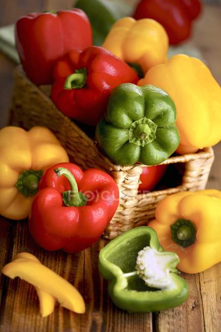 Fresh colorful peppers — Stock Photo