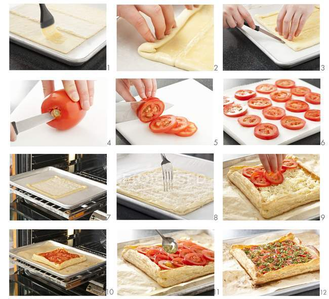 Steps for Making Tart — Stock Photo