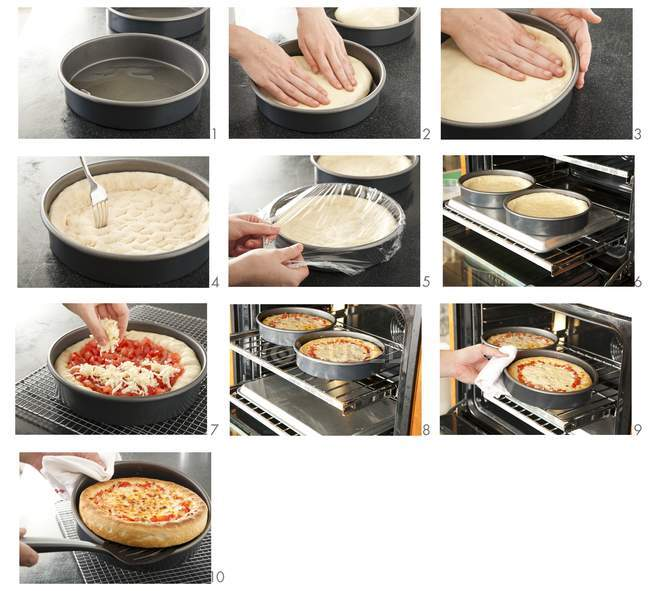 Steps for Making Pizza — Stock Photo