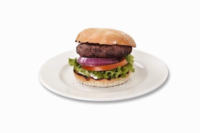 Классический гамбургер с овощами — стоковое фото