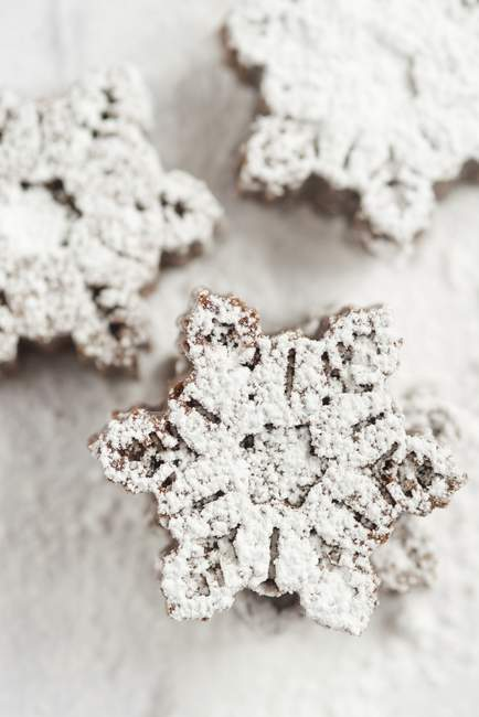 Мини-снежинка образный Торты шоколадные — стоковое фото