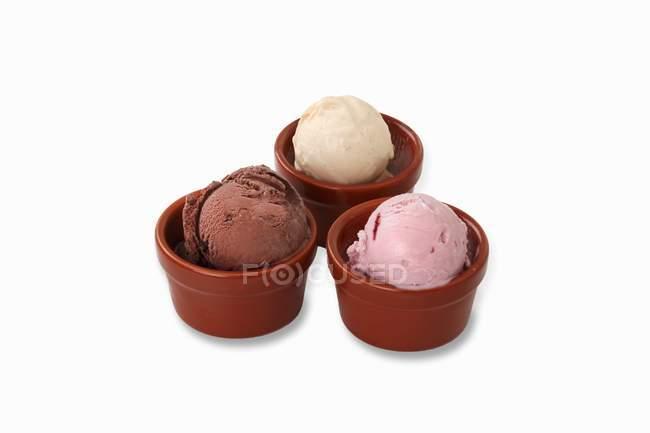 Varias bolas de helado - foto de stock