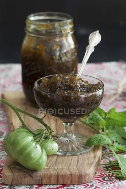 Marmellata di pomodoro in calice — Foto stock