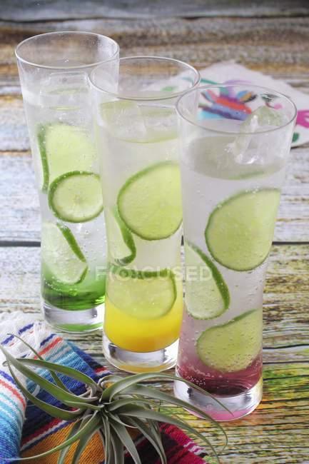 Margarita fruttata con fette di lime — Foto stock