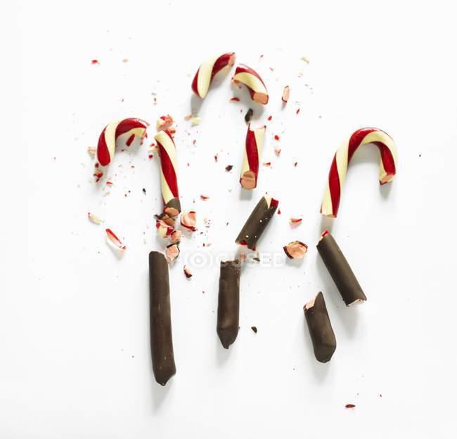 Bastões de doces de chocolate-mergulhado — Fotografia de Stock