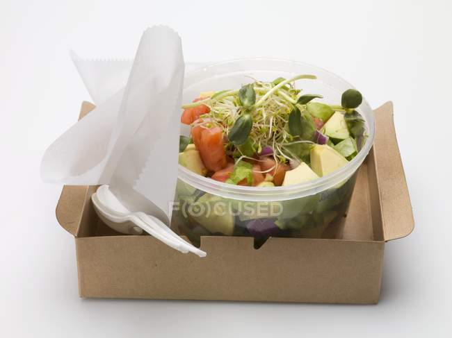Avocado salad with sprouts — Stock Photo