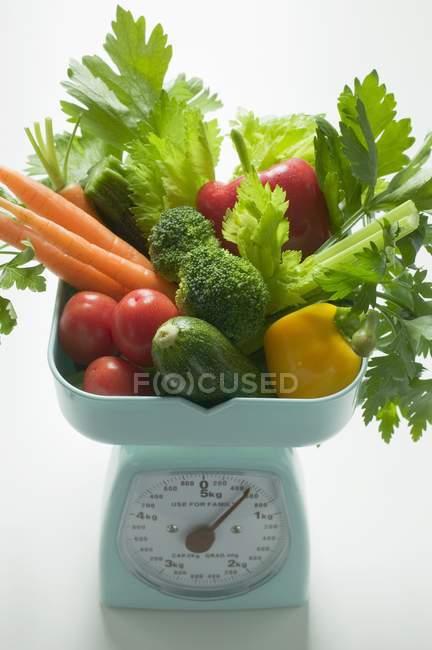 Verduras frescas y perejil - foto de stock