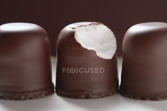 Три шоколад зефір — стокове фото