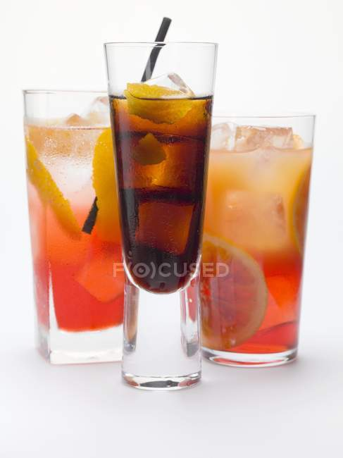 Campari Soda und Campari Orange — Stockfoto