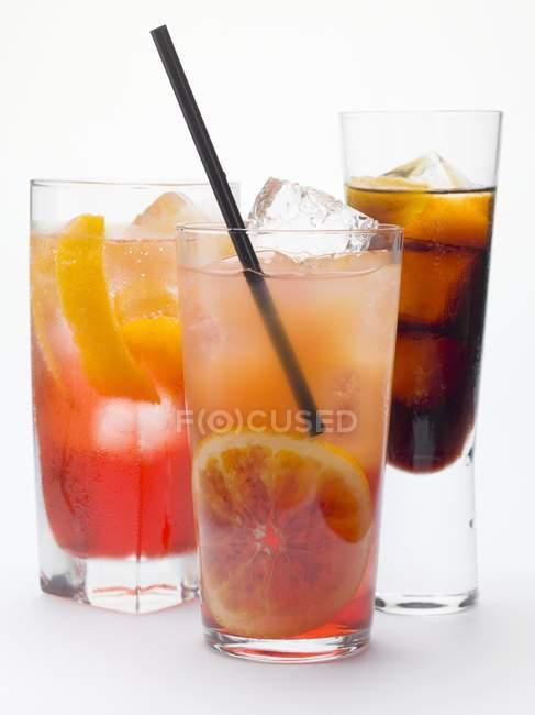 Campari Soda and Campari Orange — Stock Photo