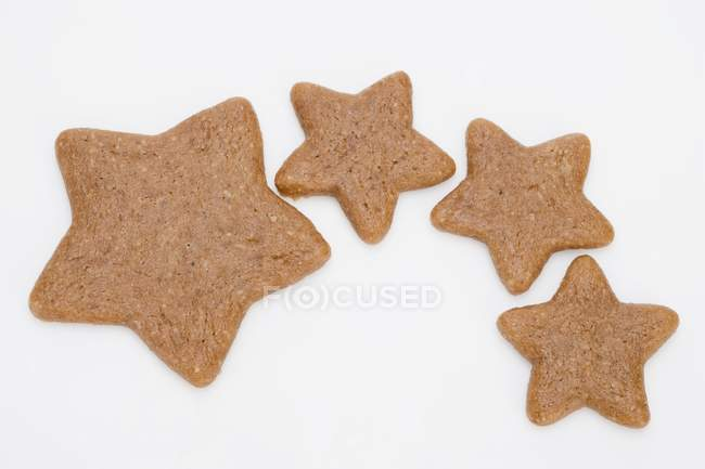 Varias estrellas de pan de jengibre - foto de stock