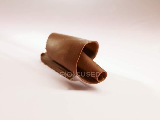 Темний шоколад curl — стокове фото