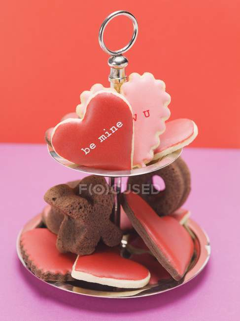 Печенье в форме сердца — стоковое фото