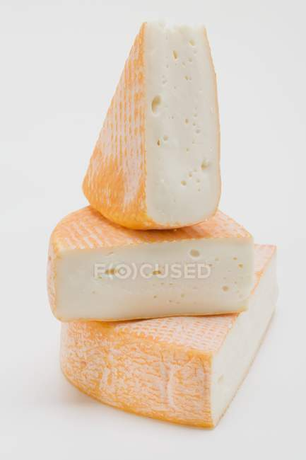 Three pieces of cheese — Stock Photo