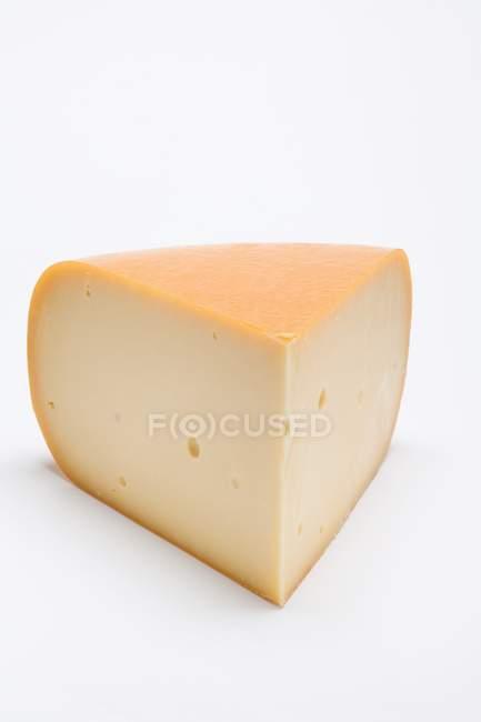 Piece of Edam cheese — Stock Photo