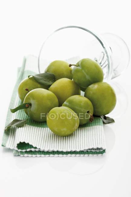 Fresh ripe greengages — Stock Photo