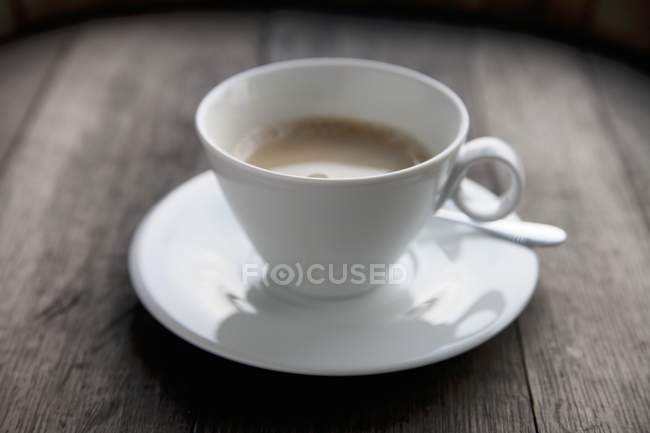White cup of latte — Stock Photo
