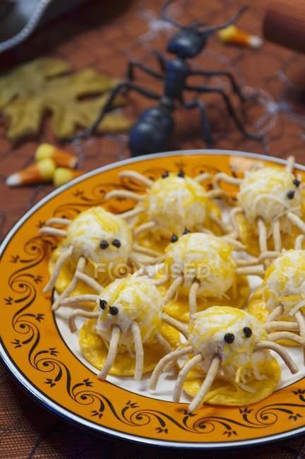 Halloween Spider Cheese Lunch Seasoned Stock Photo 153447128