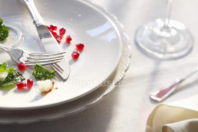 Dinner Remains on Plate — Stock Photo