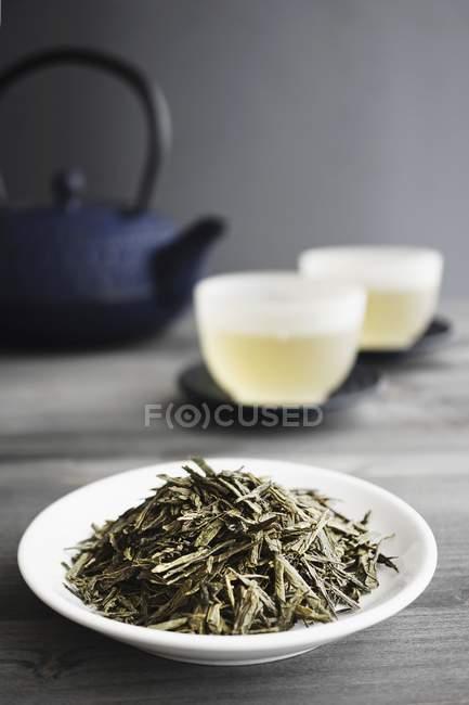 Thé vert en vrac, — Photo de stock