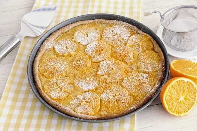 Saftige Orangen Torte — Stockfoto