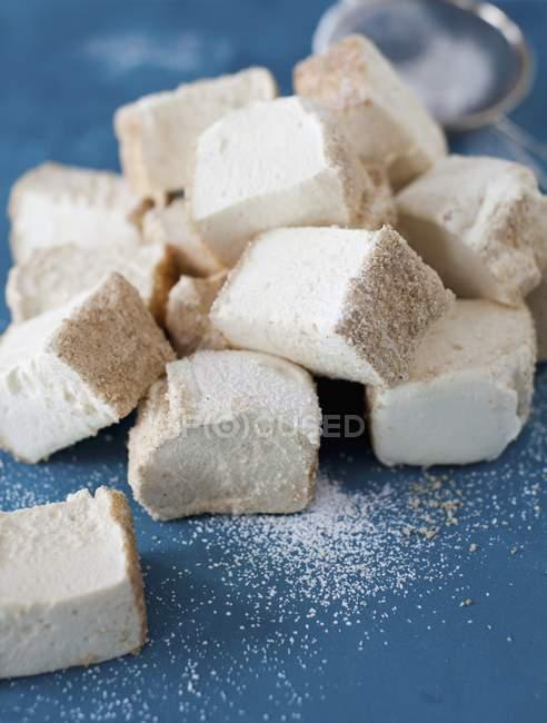 Marshmallow caseiro com mel — Fotografia de Stock