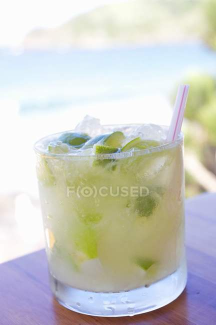 Caipirinha Cocktail in glass — Stock Photo