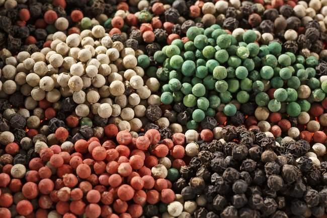 Cors de poivre mélangés bruts — Photo de stock