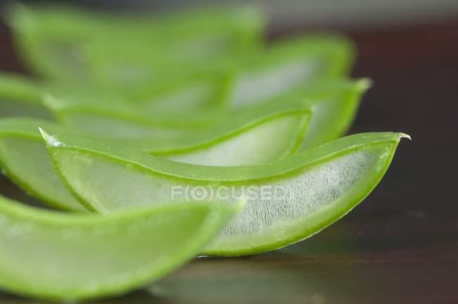 Sliced aloe vera shoots — Stock Photo