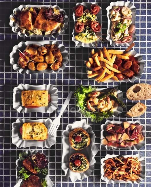 Plats de Fast-Food assortis — Photo de stock