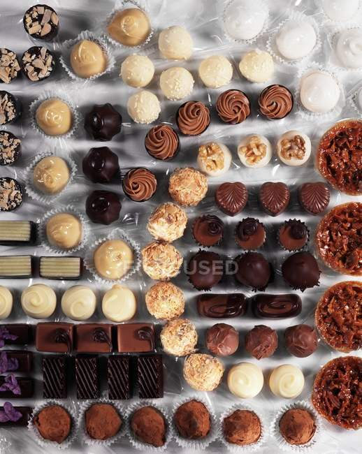 Many chocolates of different kind — Stock Photo