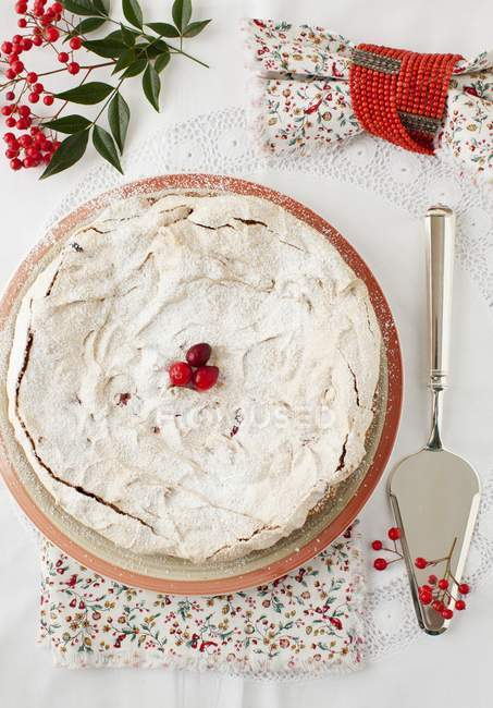Клюква безе пирог — стоковое фото