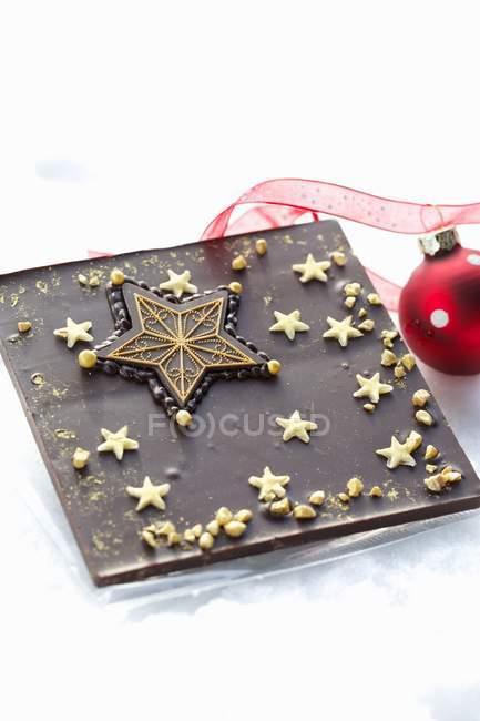 Святковий Різдвяний шоколаду — стокове фото