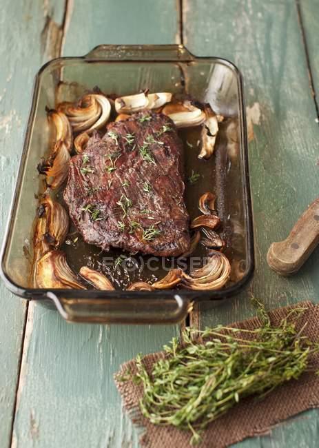 Roasted Flank Steak — Stock Photo