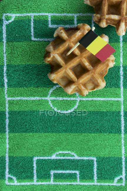 Waffles with a German flag — Stock Photo
