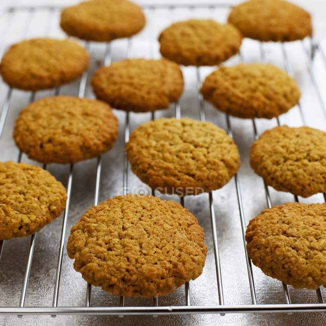 Cookies en rejilla - foto de stock