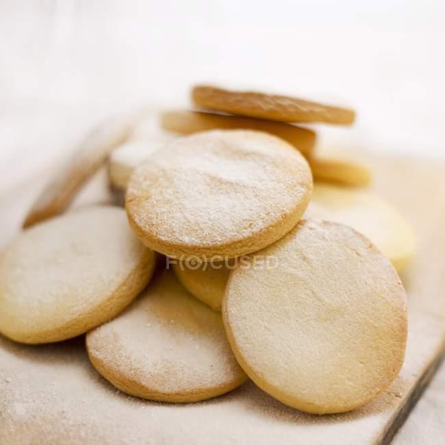 Biscoitos shortbread com açúcar — Fotografia de Stock