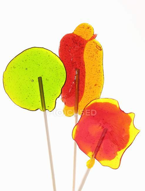 Colourful home-made lollipops — Stock Photo