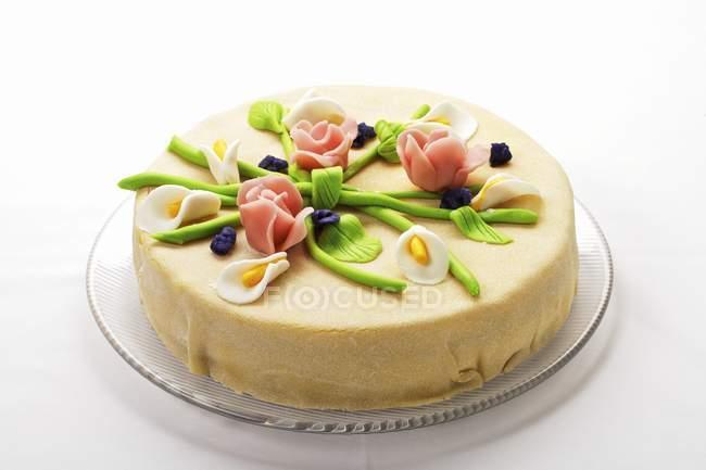 Елегантний марципану Листковий пиріг — стокове фото