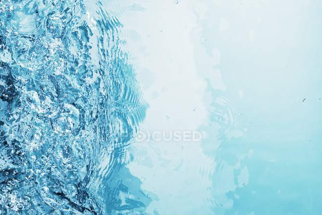 Closeup view of blue water wave — Stock Photo