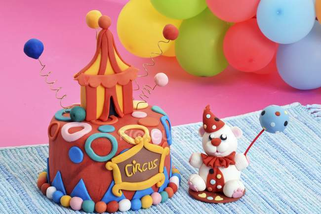 Cake designed as circus tent — Stock Photo