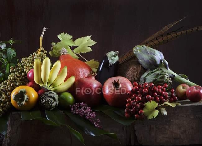 Осенние фрукты и овощи — стоковое фото