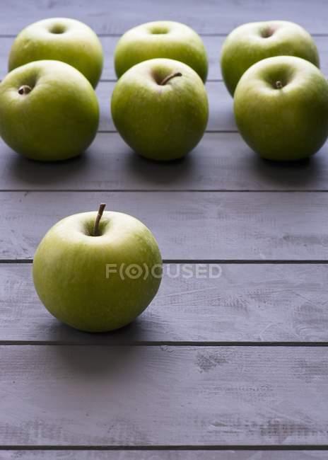 Fresh Green apples — Stock Photo