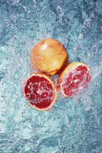 Pompelmo rosa in acqua — Foto stock