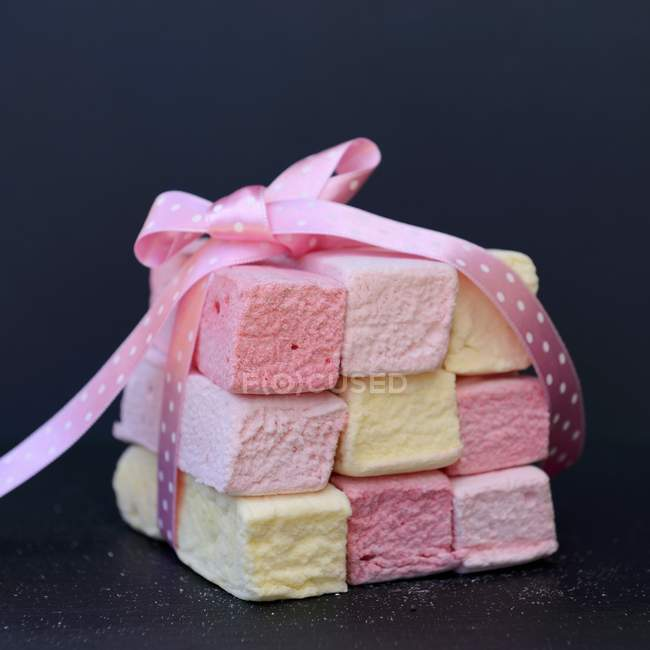 Marshmallow color pastello — Foto stock